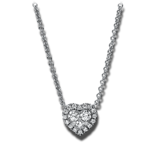 Brogle Selection Halskette mit Anhänger Basic Herz 4C945W8-7