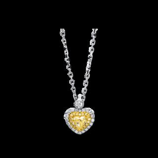 Brogle Selection Halskette mit Anhänger Basic Herz 4D106WG8-2
