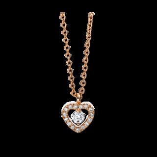 Brogle Selection Halskette mit Anhänger Basic Herz 4D384R8-6