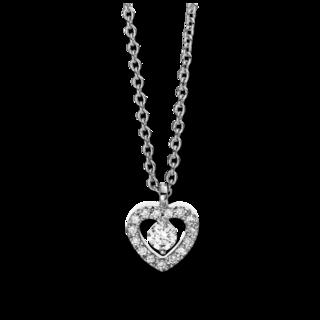 Brogle Selection Halskette mit Anhänger Basic Herz 4D384W4-1