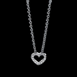 Brogle Selection Halskette mit Anhänger Basic Herz 4D387W8-8