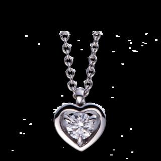 Brogle Selection Halskette mit Anhänger Basic Herz 4D984W8-2