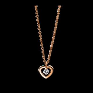 Brogle Selection Halskette mit Anhänger Basic Herz 4D993R8-1