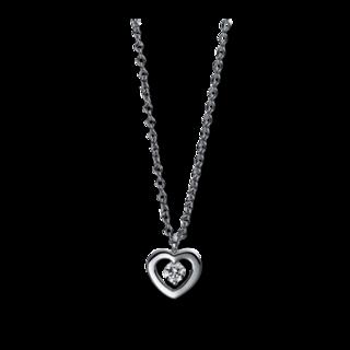 Brogle Selection Halskette mit Anhänger Basic Herz 4D993W8-1