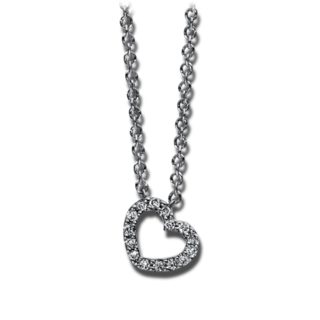 Brogle Selection Halskette mit Anhänger Basic Herz 4E000W8-2