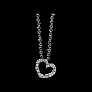Brogle Selection Halskette mit Anhänger Basic Herz 4E001W8-2