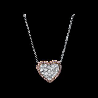 Brogle Selection Halskette mit Anhänger Basic Herz 4E151WR8-1