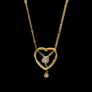 Brogle Selection Halskette mit Anhänger Basic Herz 4E226G8-1