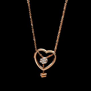 Brogle Selection Halskette mit Anhänger Basic Herz 4E226R8-1