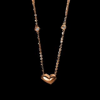 Brogle Selection Halskette mit Anhänger Basic Herz 4E244R8-1