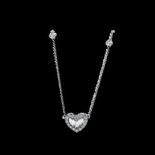 Brogle Selection Halskette mit Anhänger Basic Herz 4E274W8-1