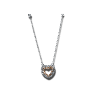 Brogle Selection Halskette mit Anhänger Basic Herz 4E283WR