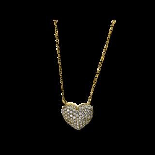 Brogle Selection Halskette mit Anhänger Basic Herz 4E302G8-1