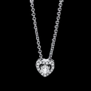Brogle Selection Halskette mit Anhänger Basic Herz 4E529W8-1