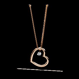 Brogle Selection Halskette mit Anhänger Basic Herz 4F093R4-1