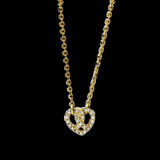 Brogle Selection Halskette mit Anhänger Basic Herz 4F148G8-1