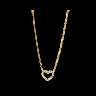 Brogle Selection Halskette mit Anhänger Basic Herz 4F169G8-1