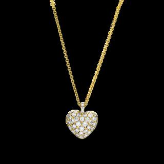 Brogle Selection Halskette mit Anhänger Basic Herz 4F230G8-1