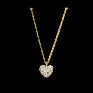 Brogle Selection Halskette mit Anhänger Basic Herz 4F230G8-3