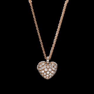 Brogle Selection Halskette mit Anhänger Basic Herz 4F230R8-1