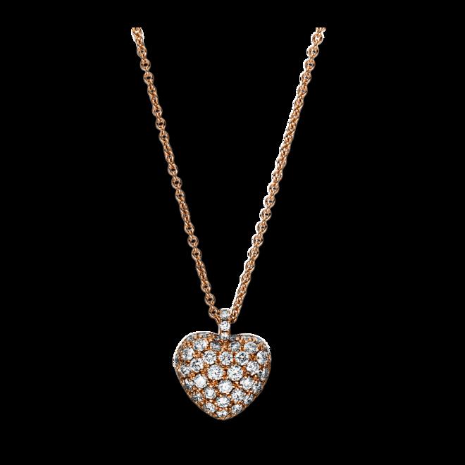 Halskette mit Anhänger Brogle Selection Basic Herz aus 750 Roségold mit 52 Brillanten (0,71 Karat) bei Brogle