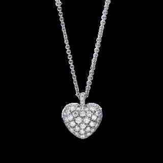 Brogle Selection Halskette mit Anhänger Basic Herz 4F230W8-1