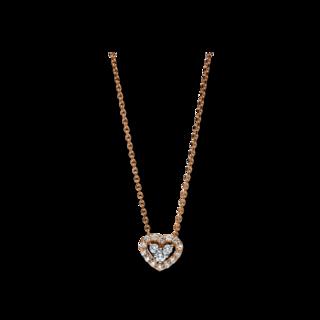 Brogle Selection Halskette mit Anhänger Basic Herz 4F250RW8-1