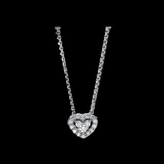 Brogle Selection Halskette mit Anhänger Basic Herz 4F250W8-1