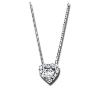 Brogle Selection Halskette mit Anhänger Basic Herz 4F263W8-2