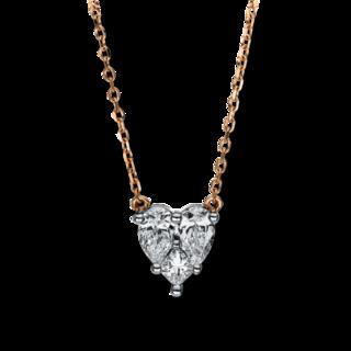 Brogle Selection Halskette mit Anhänger Basic Herz 4F308RW8-1