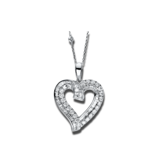 Brogle Selection Halskette mit Anhänger Basic Herz 4F433W4-1
