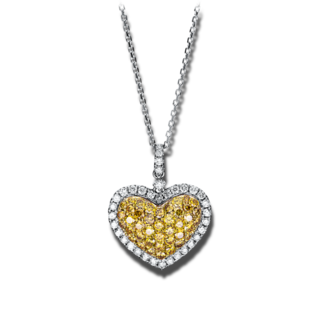 Brogle Selection Halskette mit Anhänger Basic Herz 4F451WG4-1