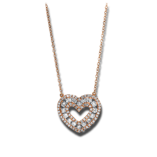 Brogle Selection Halskette mit Anhänger Basic Herz 4F469R8-1
