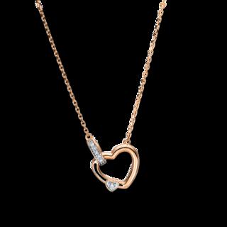 Brogle Selection Halskette mit Anhänger Basic Herz 4F498R8-1