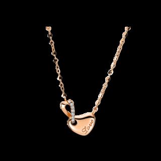 Brogle Selection Halskette mit Anhänger Basic Herz 4F500R8-1
