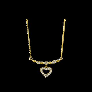 Brogle Selection Halskette mit Anhänger Basic Herz 4F506G8-1