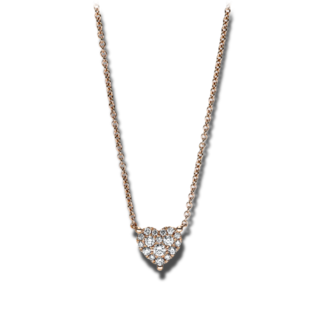 Brogle Selection Halskette mit Anhänger Basic Herz 4F620R8-1