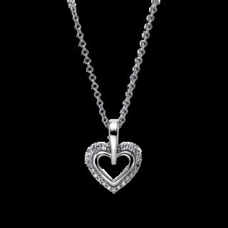 Brogle Selection Halskette mit Anhänger Basic Herz 4G168W8-1