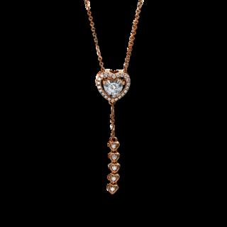 Brogle Selection Halskette mit Anhänger Basic Herzen 4E221R8-1