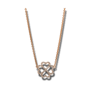 Brogle Selection Halskette mit Anhänger Basic Herzen 4F171R8-1