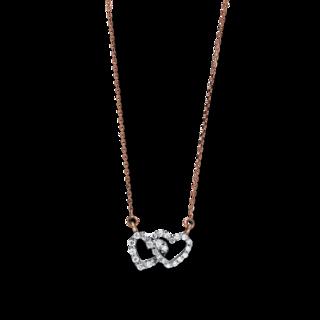 Brogle Selection Halskette mit Anhänger Basic Herzen 4F231RW4-1