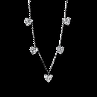 Brogle Selection Halskette mit Anhänger Basic Herzen 4F707W8-1