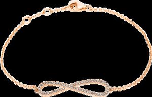 Armband Brogle Selection Basic Infinity aus 585 Roségold mit 57 Brillanten (0,16 Karat)
