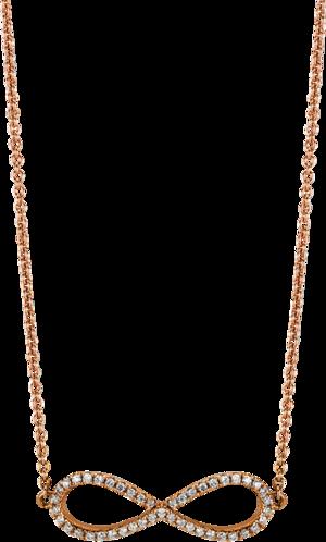 Halskette mit Anhänger Brogle Selection Basic Infinity aus 585 Roségold mit 45 Brillanten (0,18 Karat)