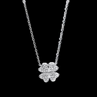Brogle Selection Halskette mit Anhänger Basic Kleeblatt 4F461W8-1