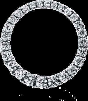 Anhänger Brogle Selection Basic Kreis aus 750 Weißgold mit 26 Brillanten (0,35 Karat)