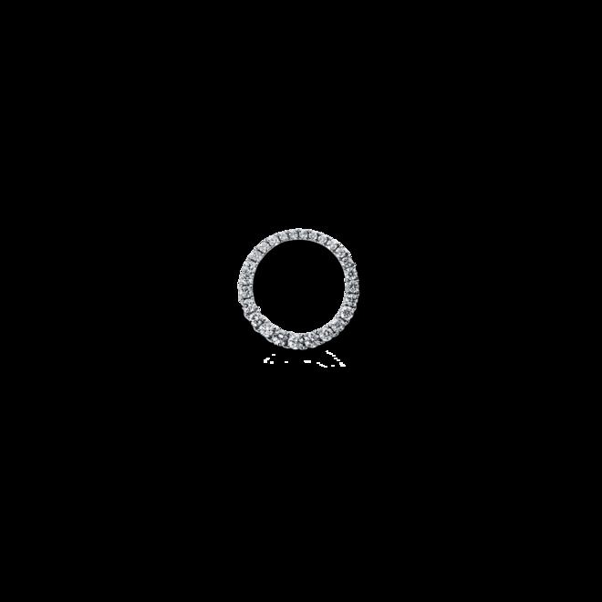 Anhänger Brogle Selection Basic Kreis aus 750 Weißgold mit 26 Brillanten (0,35 Karat) bei Brogle