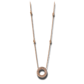 Brogle Selection Halskette mit Anhänger Basic Kreis 4A272R8-12
