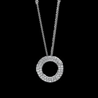 Brogle Selection Halskette mit Anhänger Basic Kreis 4A795W8-2