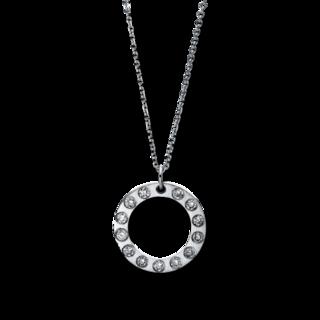 Brogle Selection Halskette mit Anhänger Basic Kreis 4C665W8